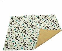 Sharplace Kuschelweich Teppich Vorleger Bodenmatte krabbelnd Babys Spielmatte Türvorlage Pünktchen Form 110x110cm - Grün
