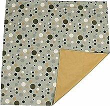 Sharplace Kuschelweich Teppich Vorleger Bodenmatte krabbelnd Babys Spielmatte Türvorlage Pünktchen Form 110x110cm - Grau