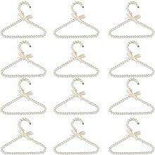 Sharplace Perle Kleiderbügel Kinder Baby Kinder Kleiderbügel Kunststoff Kleiderbuegel Länge 20 cm - typ1 Weiß 12pcs