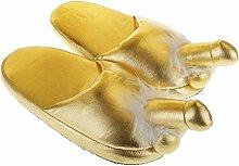 Sharplace Plüsch Pantoffeln für Party - Gold, 29
