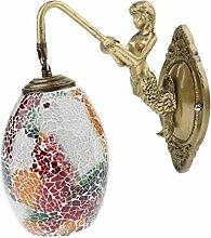 Sharplace Retro Meerjungfrau Wandleuchte Wandlampe
