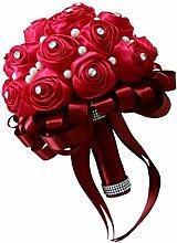 Sharplace Rosenstrauß Rot Brautstrauß