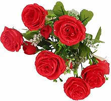 Sharplace Seidenrosen Rosen Brautstrauß