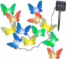 Sharplace Solar Schmetterling Lichterkette Garten
