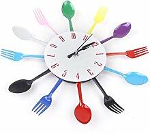 Sharplace Wanduhren Uhr Küche Wohnzimmer Kinderzimmer Dekoration