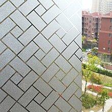 Sharplace Wasserdicht Fensterfolie Sichtschutzfolie Selbstklebend Privatleben Glas-Fenster Aufkleber 45 x 200cm - Gitter