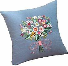 sharprepublic Blumenstrauß Band Stickerei mit