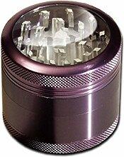 SharpStone Alu Mühle 4 tlg. - violett H 48mm Ø
