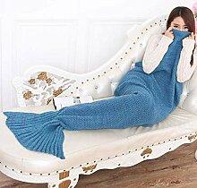 SHASHA Meerjungfrau Decke Gestrickte Meerjungfrau