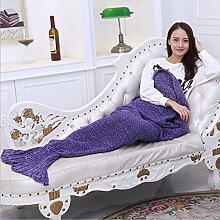 SHASHA Meerjungfrau Decke Handgefertigte