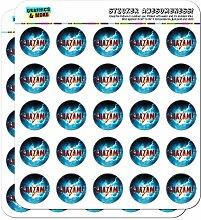 Shazam! Aufkleber mit Film-Logo, Kalender und