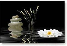 shazhuangdezhuangshipu BadematteWeiße Blume