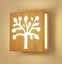 Sheen Moderne Massivholz Wandleuchte,E27