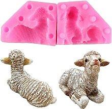 Sheep Silikon Seifenform Kerze Polymer Clay Formen