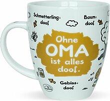 Sheepworld 45135 Tasse mit Spruch Ohne Oma ist