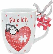 Sheepworld 45321 Kaffee-Tasse mit Spruch Du und
