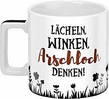 Sheepworld 46529 Wortheld Spruch, Lächeln Winken,