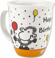 Sheepworld 60914 Tasse groß in Geschenkbox Happy