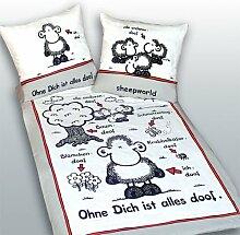 Sheepworld Bettwäsche Ohne Dich ist alles doof