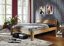 Sheesham Holz massiv Möbel geölt Bett 160x200 Massivmöbel Holz massiv braun Nature Brown #521