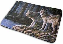 Sheho Waldufer Wolf Fussmatte Innen