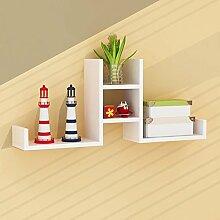 Shelf Platz Sparen- Wandregal Wand Wohnzimmer Wort