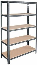 shelfplaza® HOME Steckregal 180x80x50cm anthrazit