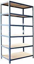 shelfplaza® HOME Steckregal 200x50x30cm blau 6