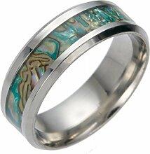Shell Farbe Titan Stahl Men Ring Ring Gehobenen