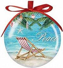 Shell Tree Peace High Gloss Resin Christmas