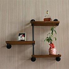 Shelves GBY Wandregale Schmiedeeisen Rohre Vintage