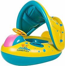 shemrow aufblasbares Schwimmbecken Baby Float Sitz Boot Strand Auto Sonnenschutz Wasser