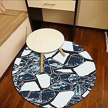 sheng Runder Teppich Stein Wohnzimmer Schlafzimmer Drehstuhl Computer Stuhl Matte kann chemisch gereinigt werden 160cm ( größe : 100cm )