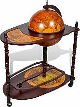 SHENGFENG Hausbar Globus Bar Bartisch Holz Minibar