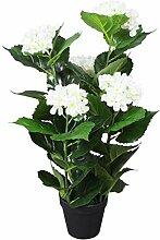 SHENGFENG Hortensie Künstliche Pflanze mit Topf