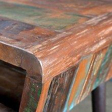 SHENGFENG Schreibtisch Massivholz Teak Antik