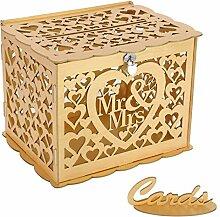 shengo Hochzeit Geschenkkartenbox Holz Kartenbox