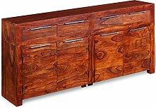 Shengtaieushop Sideboard massiv Sheesham Holz