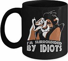 shenguang I am Surrounded by Idiots Kaffeebechers