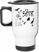 shenguang Reise-Becher With Handle Autotasse Birds