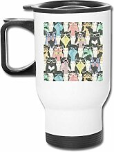 shenguang Reise-Becher With Handle Autotasse Cats