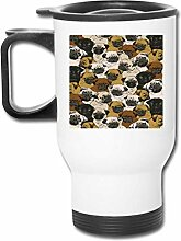 shenguang Reise-Becher With Handle Cute Pug