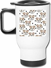 shenguang Reise-Becher With Handle Dogs Face