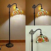 SHENGXUAN Vintage Wohnzimmer Stehlampe, Ø30CM