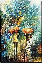 SHENLANYU Abstrakte Kunst Menschen mit Regenschirm