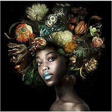 SHENLANYU Afrikanische Frauen mit Blumen