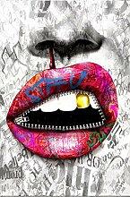 SHENLANYU Graffiti-Kunst mit sexy Lippen und