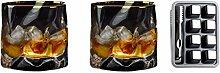SHENRQIA Doppelwandige Gläser,Kristall