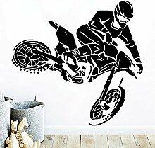 Shentop Cartoon Stil Motorrad Vinyl Aufkleber