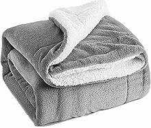 Sherpa Überwurf, Flanell-Fleece, wendbare Decken,